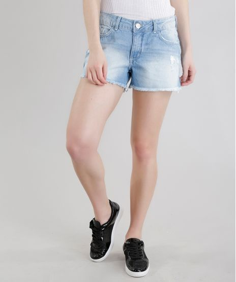 Short-Jeans-Reto-com-Bordado-Mickey-Azul-Claro-8612172-Azul_Claro_1