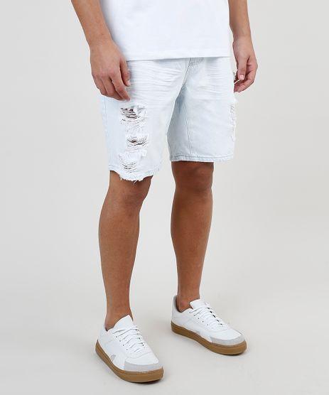 Bermuda-Jeans-Masculina-Slim-Destroyed-com-Cordao-e-Bolsos-Azul-Claro-9578295-Azul_Claro_1