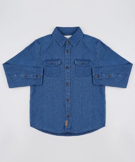 Camisa-Infantil-em-Piquet-com-Bolso-Manga-Longa-Azul-Marinho-9808441-Azul_Marinho_1