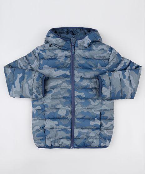 Jaqueta-Puffer-Infantil-Estampada-Camuflada-com-Capuz-e-Bolsos-Azul-9782627-Azul_1