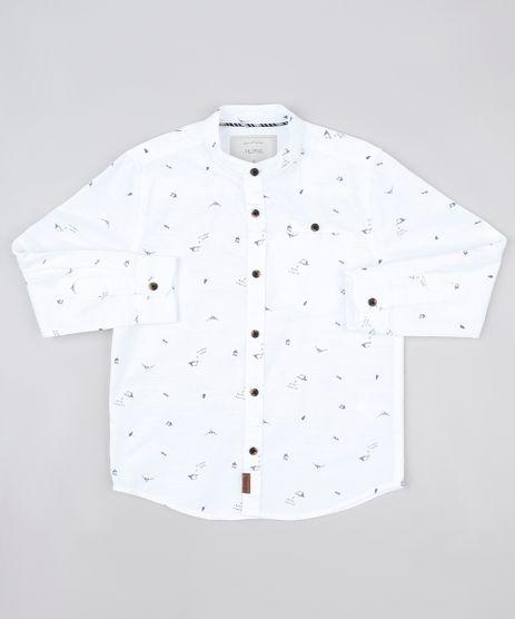 Camisa-Infantil-Mini-Print-com-Bolso-Manga-Longa-Gola-Padre-Branca-9808455-Branco_1