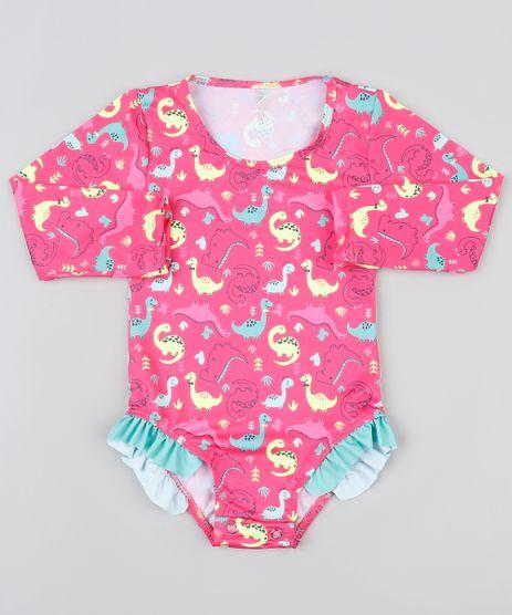 Maio-Body-Infantil-Estampado-de-Dinossauros-com-Babado-e-Protecao-UV50--Pink-9867202-Pink_1