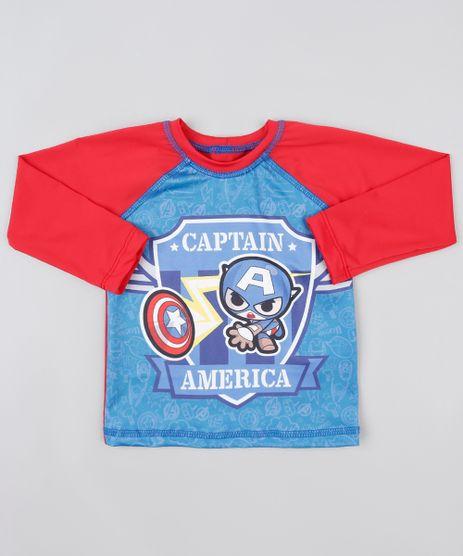 Camiseta-de-Praia-Infantil-Capitao-America-Raglan-com-Protecao-UV50---Vermelha-9889236-Vermelho_1