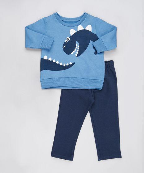 Conjunto-Infantil-de-Blusao-Dinossauro-Azul---Calca-em-Moletom-Felpado-Azul-Marinho-9876594-Azul_Marinho_1