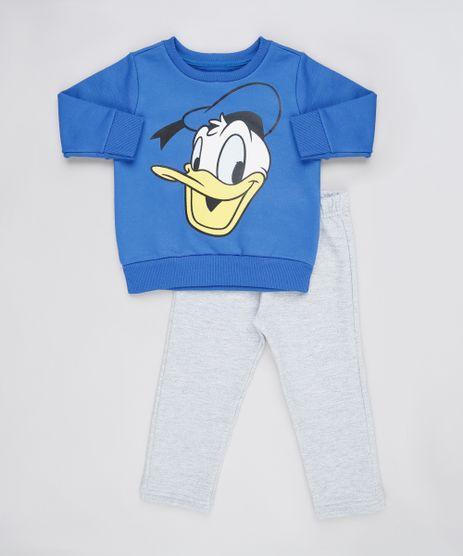 Conjunto-Infantil-Pato-Donald-de-Blusao-Azul-Royal---Calca-em-Moletom-Felpado-Cinza-Mescla-9876579-Cinza_Mescla_1