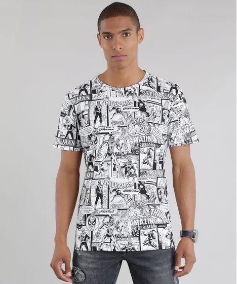 5436801d9cfd Camiseta Estampada Homem Aranha Branca - cea