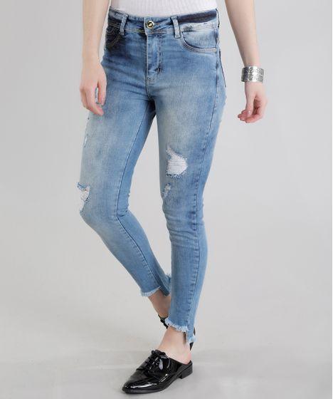 05b76eafc Calca-Jeans-Cigarrete-Sawary-Azul-Medio-8682985-Azul_Medio_1 ...