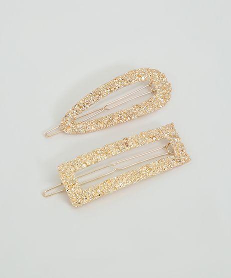 Kit-de-2-Presilhas-Femininas-Texturizadas-Dourado-9860303-Dourado_1