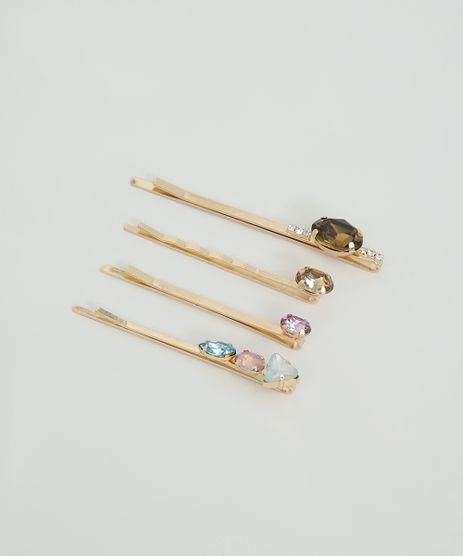 Kit-de-4-Grampos-Femininos-com-Pedra-Zirconia-Dourado-9860344-Dourado_1