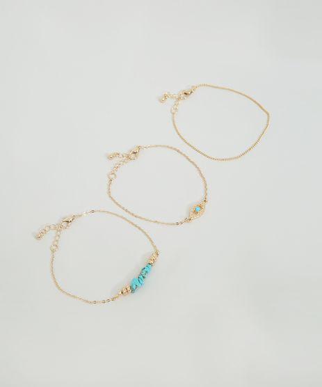 Kit-de-3-Pulseiras-Femininas-com-Pedras-Sinteticas-Dourado-9860338-Dourado_1