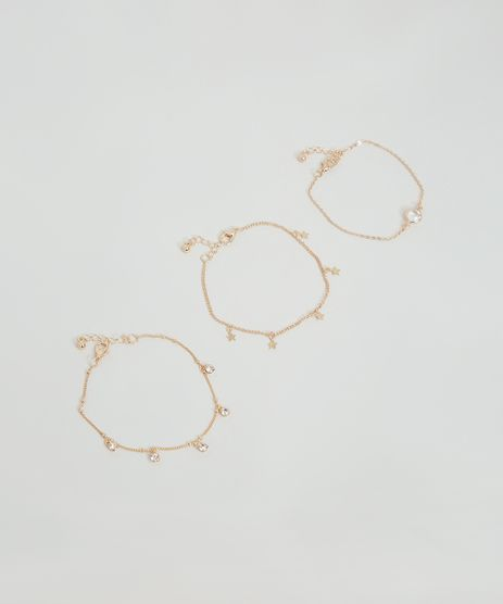 Kit-de-3-Pulseiras-Femininas-com-Strass-e-Estrelinhas-Dourado-9860326-Dourado_1