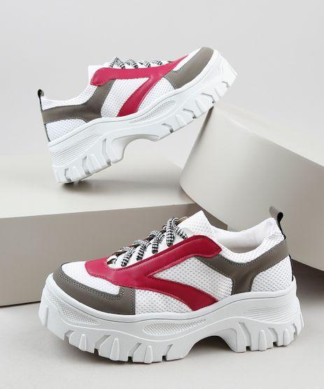 Tenis-Feminino-Oneself-Sneaker-Chunky-com-Recortes-Branco-9942440-Branco_1