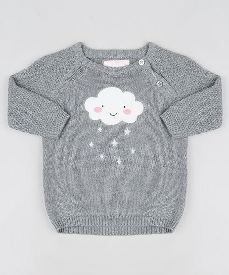 Sueter-Infantil-Nuvem-em-Trico-Cinza-Mescla-Escuro-9779719-Cinza_Mescla_Escuro_1