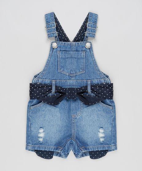 Jardineira-Jeans-Infantil-com-Faixa-para-Amarrar-Azul-Escuro-9891698-Azul_Escuro_1