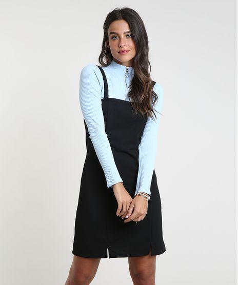 Vestido-Feminino-Curto-com-Fendas-Alca-Fina-Preto-9935375-Preto_1