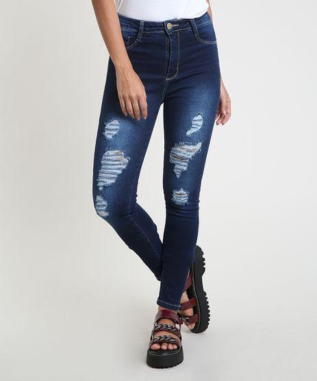 Calca-Jeans-Feminina-Sawary-Super-Skinny-Push-Up-Cintura-Alta-Destroyed--Azul-Escuro-9914207-Azul_Escuro_1