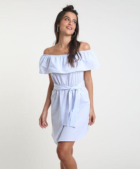 Vestido-Feminino-Curto-Ciganinha-Listrado-com-Faixa-para-Amarrar-Manga-Curta-Azul-9929162-Azul_1