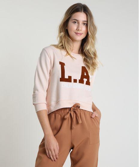 Blusao-Feminino-Cropped--L-A--California--em-Moletom-Decote-Redondo-Rose-9904117-Rose_1