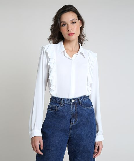 Camisa-Feminina-Mindset-Ampla-com-Babados-Manga-Longa-Branca-9948276-Branco_1