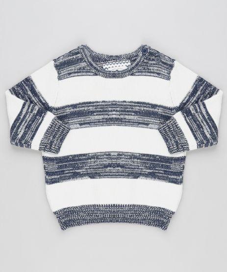 Sueter-Infantil-Listrado-em-Trico-Off-White-9780489-Off_White_1