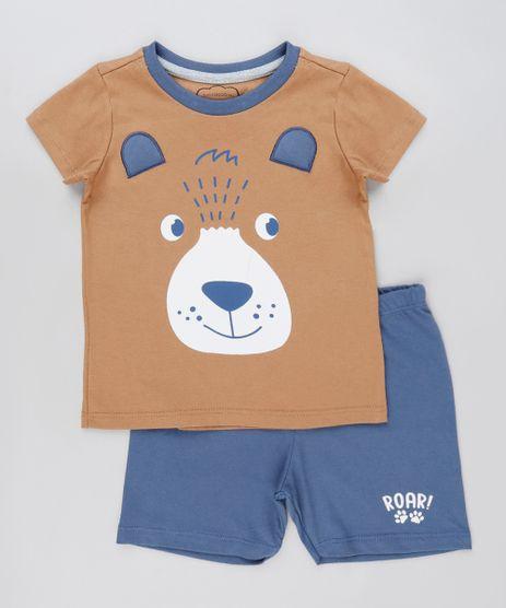 Pijama-Infantil-Urso-Manga-Curta-Caramelo-9879627-Caramelo_1