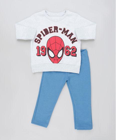 Conjunto-Infantil-Homem-Aranha-de-Blusao-Cinza-Mescla-Claro---Calca-em-Moletom-Felpado-Azul-9876582-Azul_1