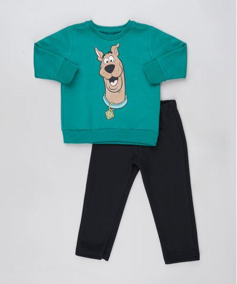 Conjunto-Infantil-Scooby-Doo-de-Blusao-Verde---Calca-em-Moletom-Felpado-Verde-Escuro-9876583-Verde_Escuro_1