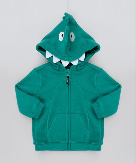 Blusao-Infantil-Jacare-em-Fleece-com-Capuz-e-Bolsos-Verde-Escuro-9803308-Verde_Escuro_1