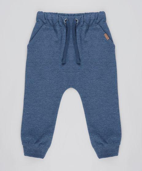 Calca-Infantil-Saruel-em-Moletom-com-Bolsos-Azul-Escuro-9356521-Azul_Escuro_1