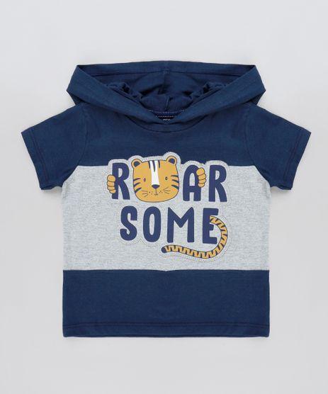 Camiseta-Infantil-Tigre-com-Recorte-e-Capuz-Manga-Curta-Azul-Marinho-9910439-Azul_Marinho_1
