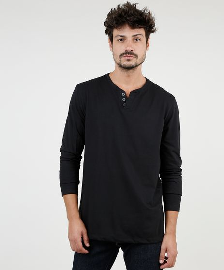 Camiseta-Masculina-Basica-Manga-Longa-Gola-Portuguesa-Preta-9555248-Preto_1