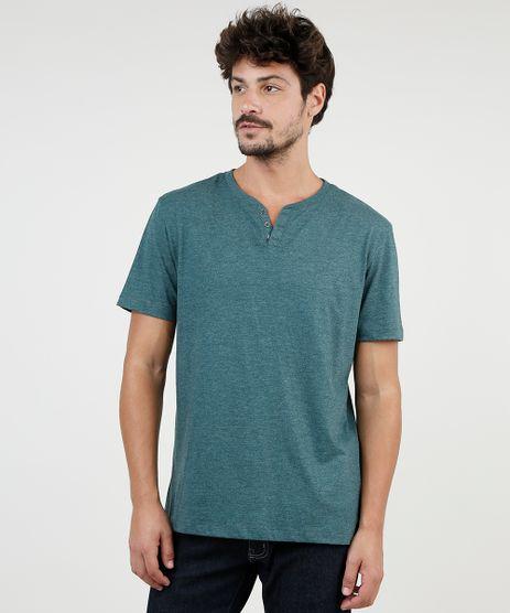 Camiseta-Masculina-BBB-Basica-com-Botoes-Manga-Curta-Gola-Careca-Verde-9555552-Verde_1