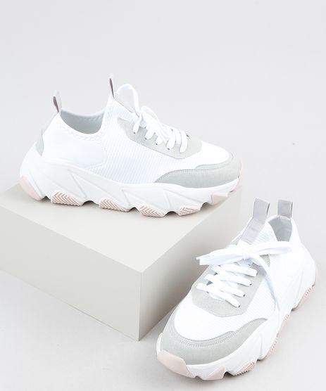 Tenis-Feminino-Oneself-Sneaker-Chunky-com-Recortes-Branco-9907571-Branco_1
