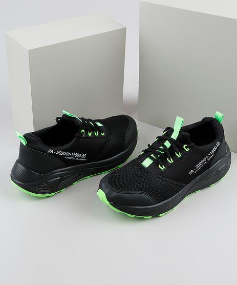 Tenis-Masculino-Oneself-Sneaker-Chunky-em-Neoprene-com-Recortes-Preto-9924402-Preto_1