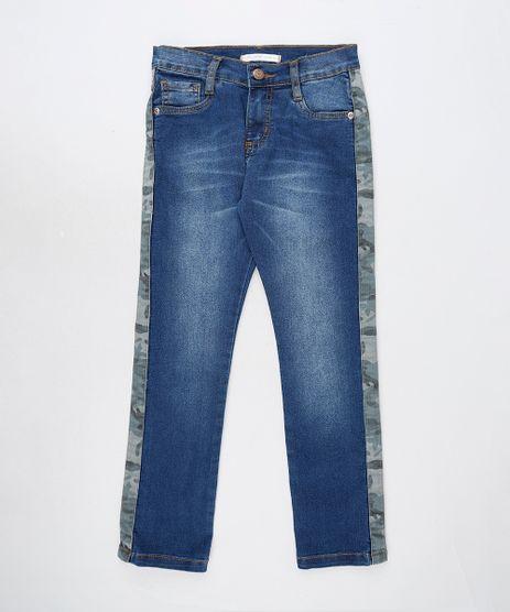 Calca-Jeans-Infantil-com-Faixa-Camuflada-e-Bolsos-Azul-Escuro-9886335-Azul_Escuro_1