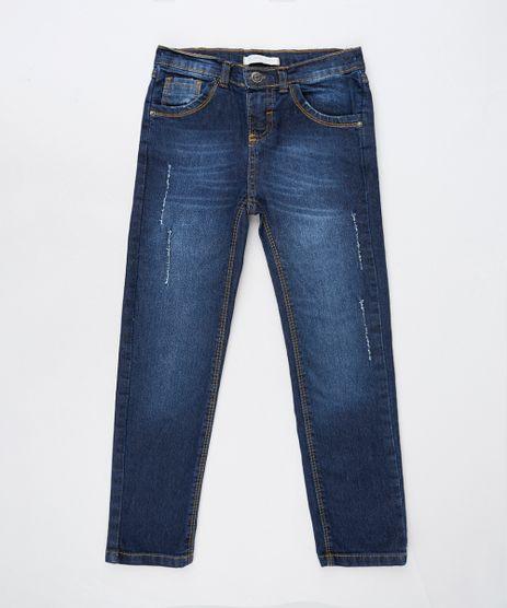 Calca-Jeans-Infantil-com-Puidos-e-Bolsos-Azul-Escuro-9908495-Azul_Escuro_1