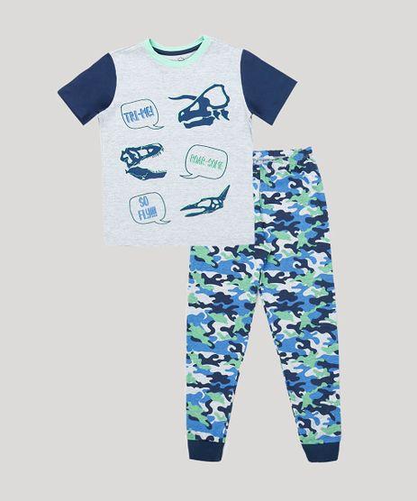 Pijama-Infantil-Dinossauro-Manga-Curta-Cinza-Mescla-9879630-Cinza_Mescla_1