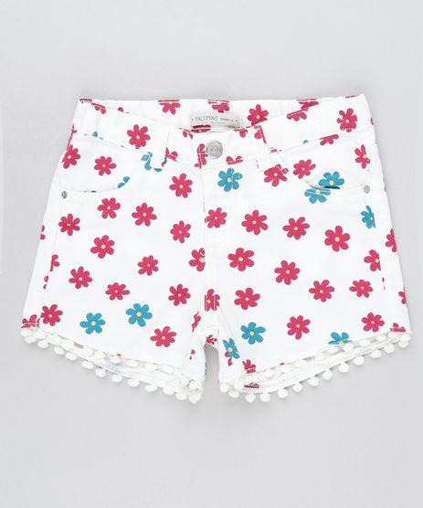 Short-de-Sarja-Infantil-Estampado-Floral-com-Pompom-e-Bolsos-Off-White-9906890-Off_White_1