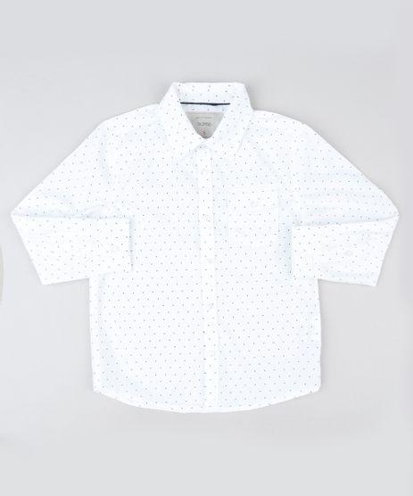 Camisa-Infantil-Estampada-de-Poa-com-Bolsos-Manga-Longa-Off-White-9808433-Off_White_1