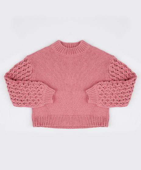Sueter-Infantil-em-Trico-Texturizado-Rosa-Escuro-9797544-Rosa_Escuro_1