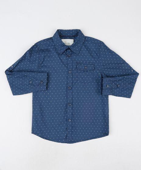 Camisa-Infantil-Estampada-de-Poa-com-Bolsos-Manga-Longa-Azul-Marinho-9808432-Azul_Marinho_1