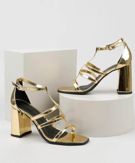 Sandalia-Feminina-Oneself-Salto-Grosso-Alto-Metalizada-Dourada-9942941-Dourado_1