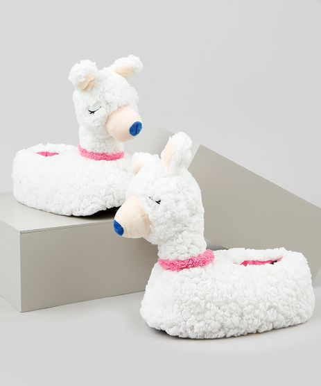 Pantufa-Infantil-Palomino-Lhama-em-Pelo-Branca-9855770-Branco_1