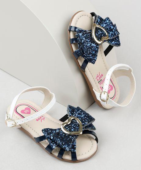 Sandalia-Infantil-Molekinha-com-Laco-e-Glitter-Azul-Escuro-9941844-Azul_Escuro_1