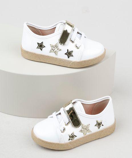 Tenis-Infantil-Molekinha-Estrelas-com-Velcro-e-Solado-Glitter-Branco-9941859-Branco_1