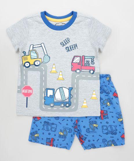Pijama-Infantil-Caminhoes-Manga-Curta-Cinza-Mescla-Claro-9879626-Cinza_Mescla_Claro_1