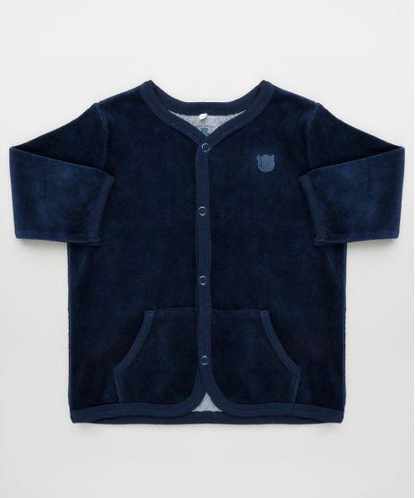 Cardigan-Infantil-em-Plush-com-Bolsos-Azul-Marinho-9757318-Azul_Marinho_1
