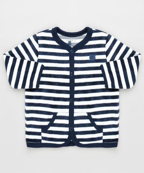 Cardigan-Infantil-Listrado-em-Plush-com-Bolsos-Azul-Marinho-9757350-Azul_Marinho_1