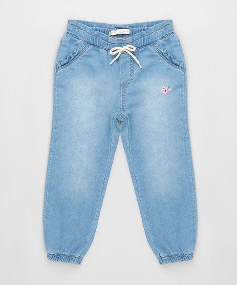 Calca-Jeans-Infantil-com-Bordado-Floral-Azul-Claro-9933305-Azul_Claro_1