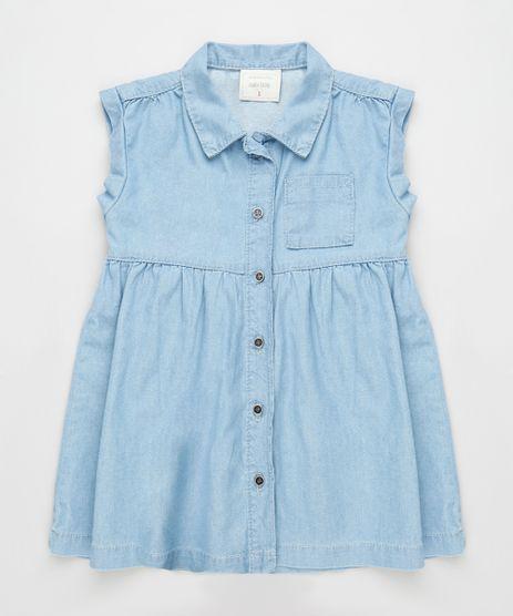Vestido-Jeans-Infantil-com-Bolso-Sem-Manga-Azul-Claro-9894189-Azul_Claro_1